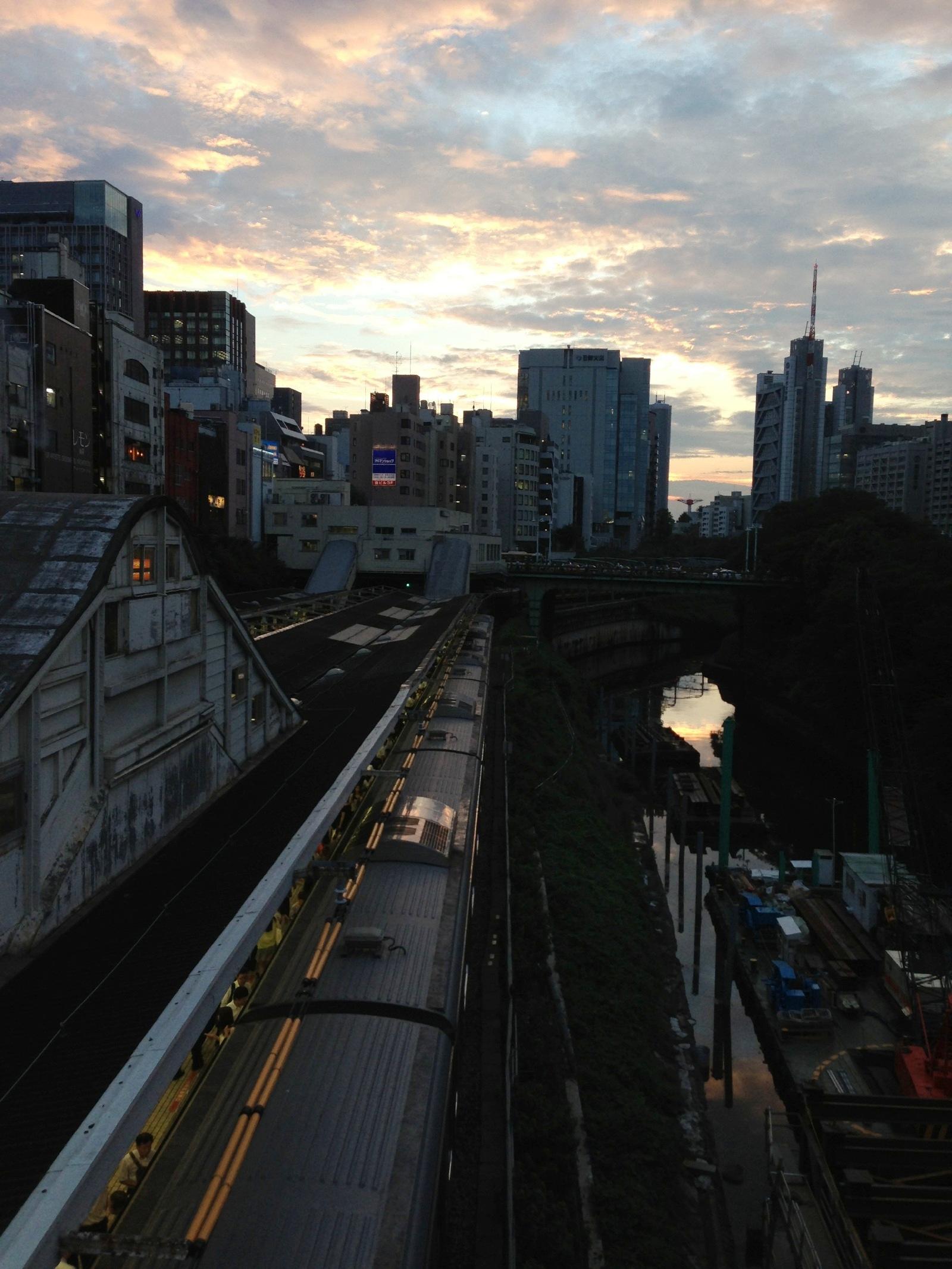 Sunset, Ochanomizu, Tokyo