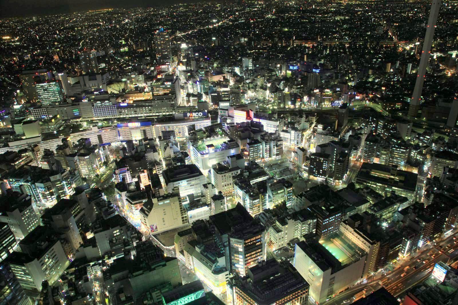 Ikebukuro night view from sunshine60