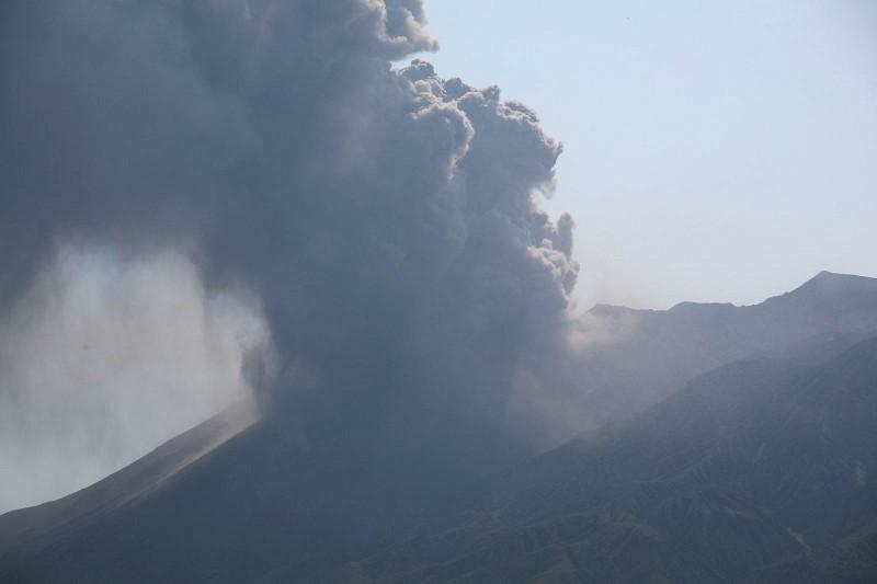 Mount Sakurajima eruption, Kagoshima