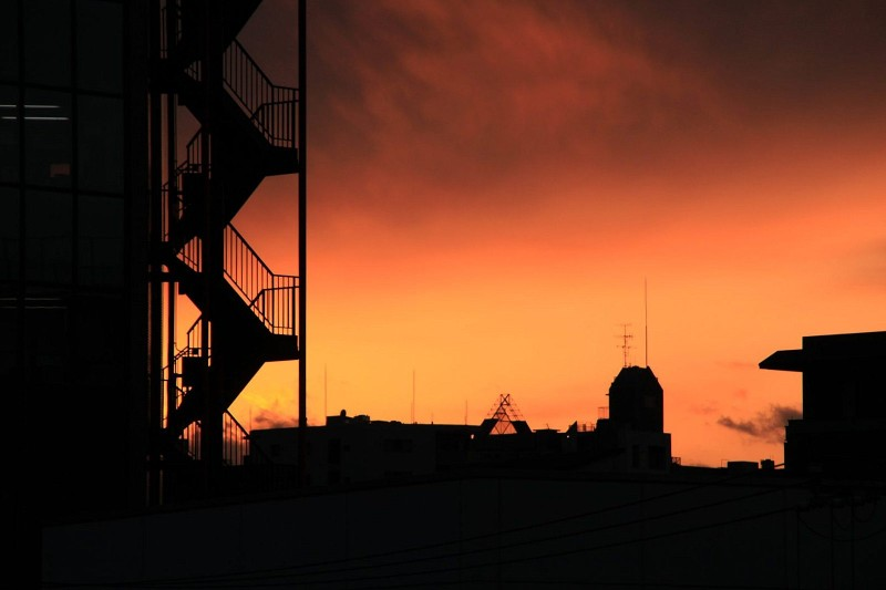 sunset at Nishinippori