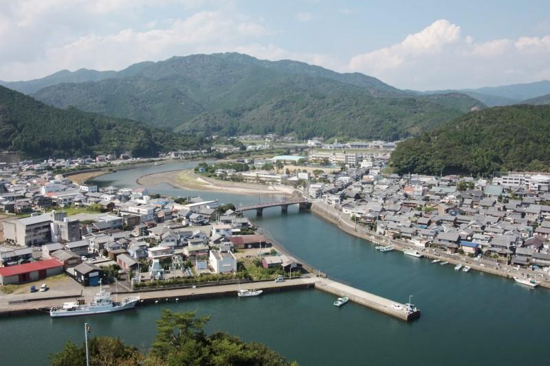 A view from Hiwasa castle, Tokushima