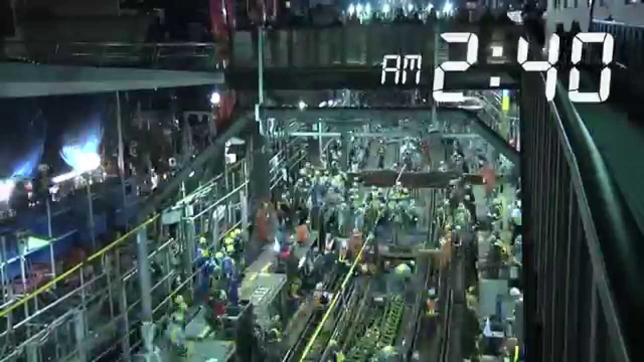 1200 workers in Japan finished in a few hours the Toyoko Line Shibuya Station