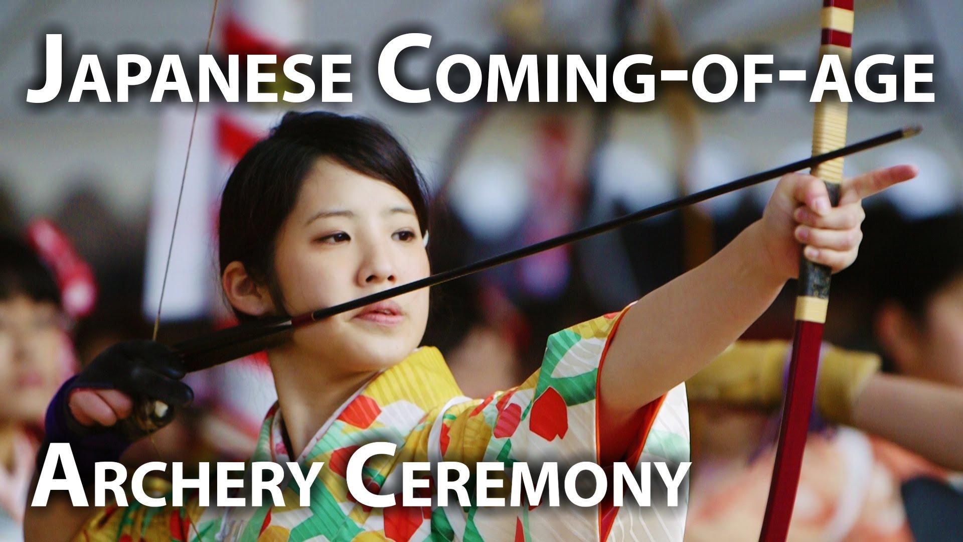 Japanese girls in Archery Ceremony