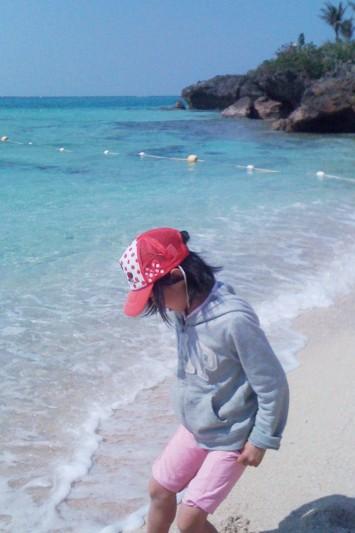 a girl on beach