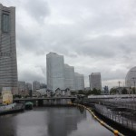 Yokohama under clouds