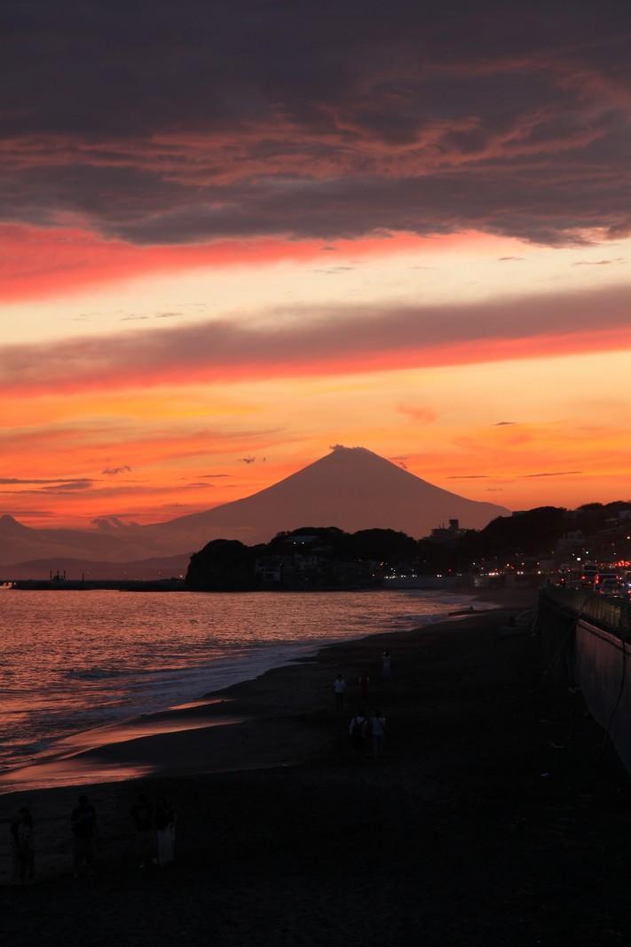 Mount Fuji, syonan beach, Kamakura-shi
