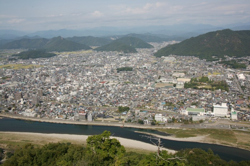 A view from Gifu castle
