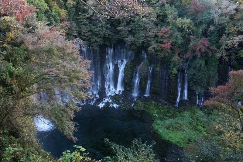 Shiraito falls in Autumn
