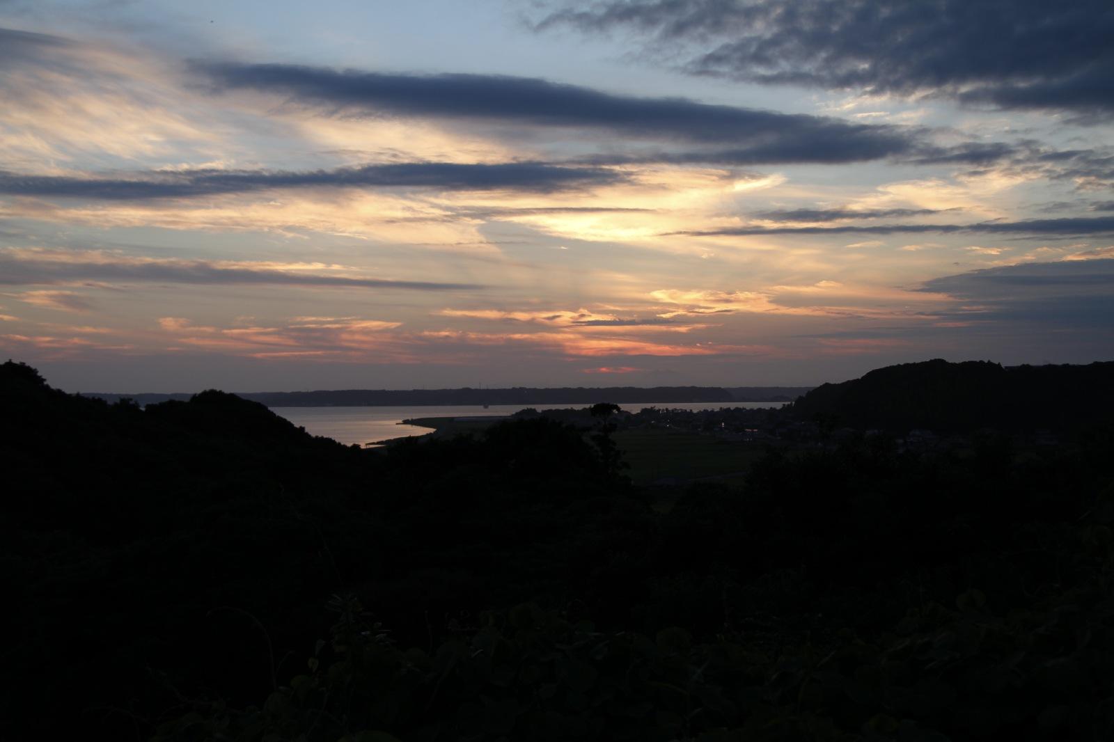 Beautiful sunset at Kasumigaura