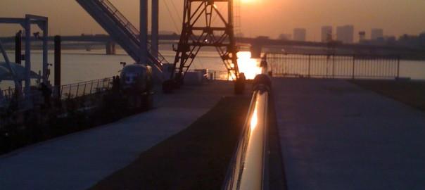 Sunset at Tokyo-bay