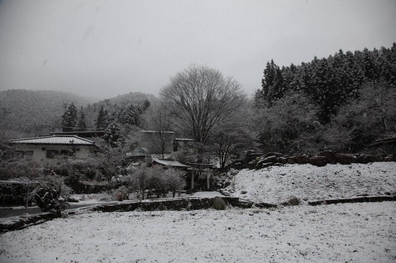 Snowy morning, Fujioka, Gunma
