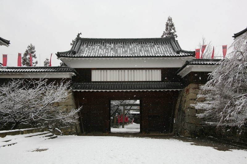 Ueda castle in winter