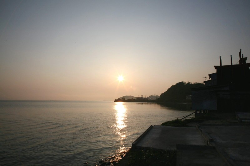 Sunrise at Lake Shinji, Shimane