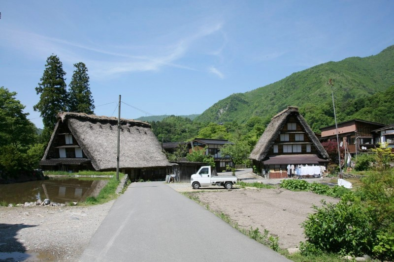 Shirakawago in the season of fresh green