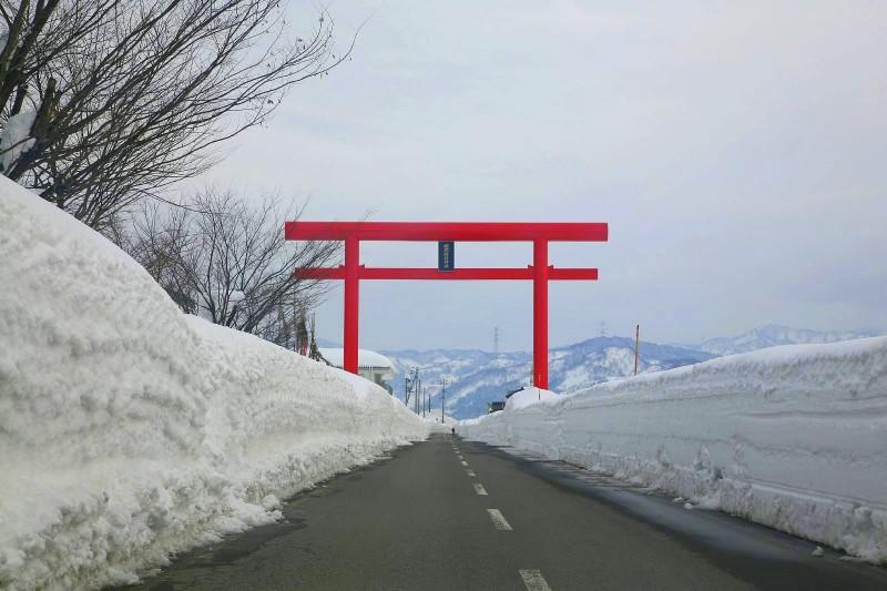 Torii in Tokamachi, Niigata.