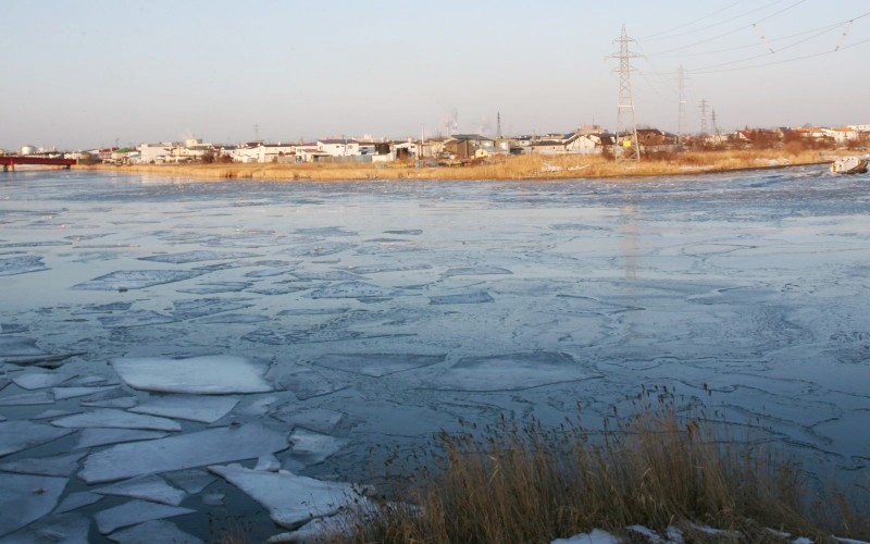 Kushiro River, Kushiro city