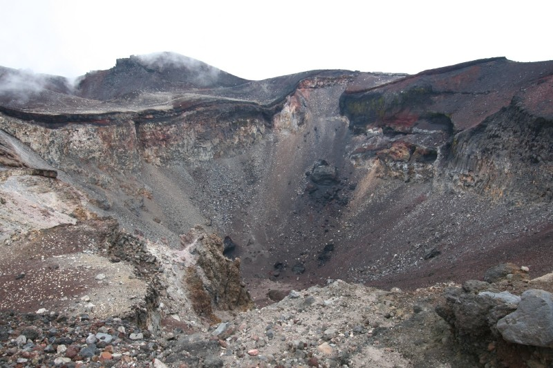 The Crater of Mt.Fuji