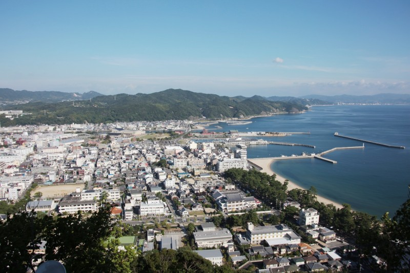 A view from Sumoto castle