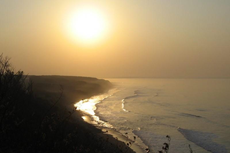 Sunset of the Sea of Okhotsk, Sharicho, Hokkaido