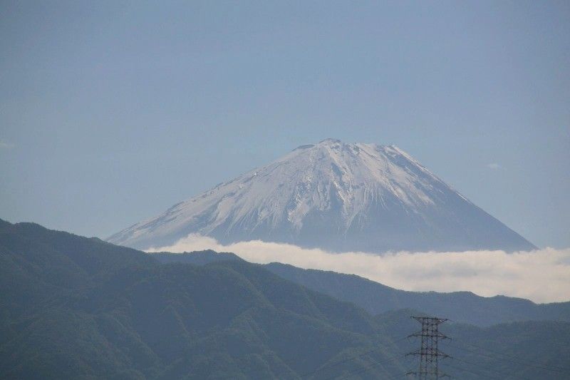 Mount Fuji as seen from Chūō Expressway