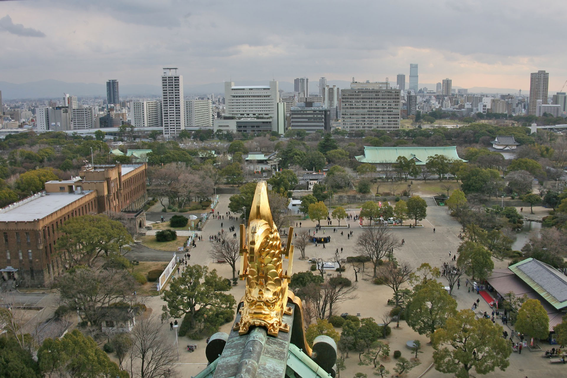 Hamarikyu Gardens in autumn